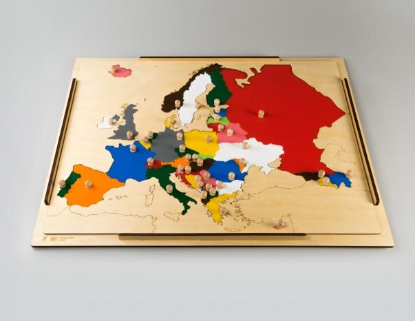 INCASTRO DELL'EUROPA CON FONDO TRASPARENTE