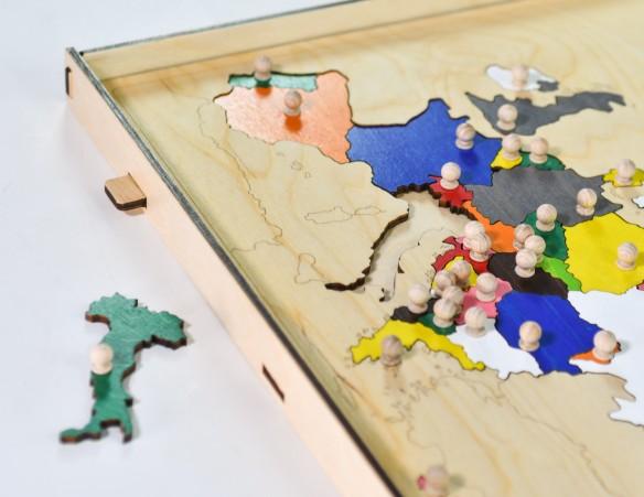 INCASTRO DELL'EUROPA CON CASSETTO